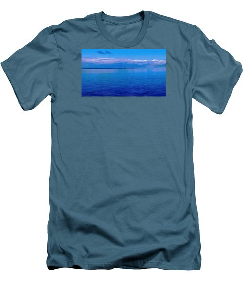 Men's T-Shirt (Slim Fit) featuring the photograph Blue Blue Sea by Vicky Tarcau