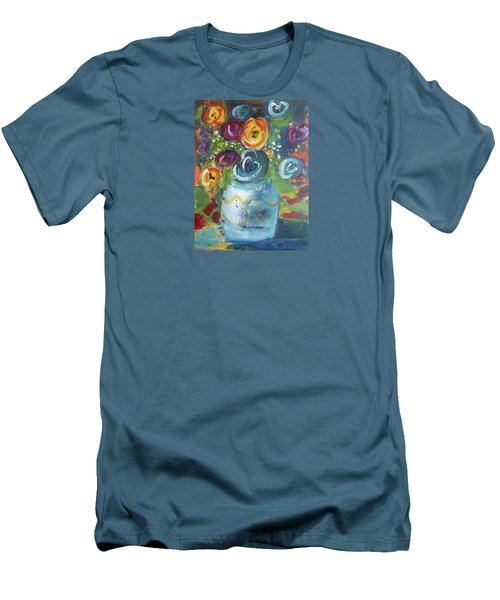 Blue Bouquet Men's T-Shirt (Athletic Fit)