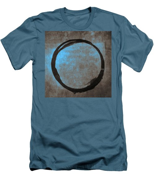 Blue Brown Enso Men's T-Shirt (Athletic Fit)