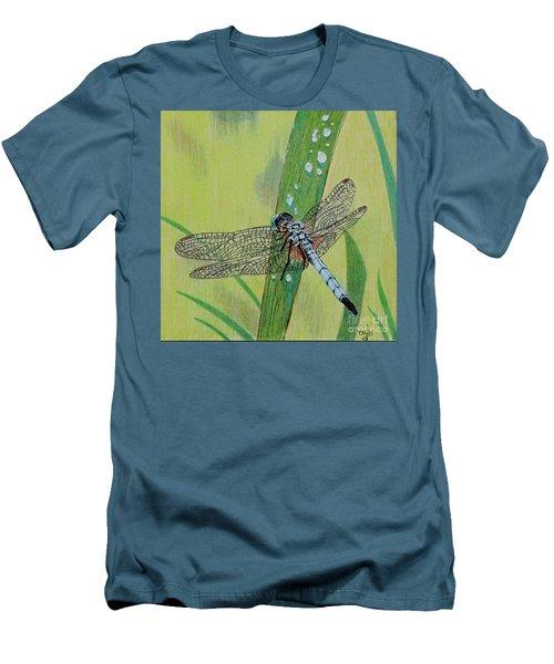Blue Dasher Men's T-Shirt (Slim Fit) by Terri Mills