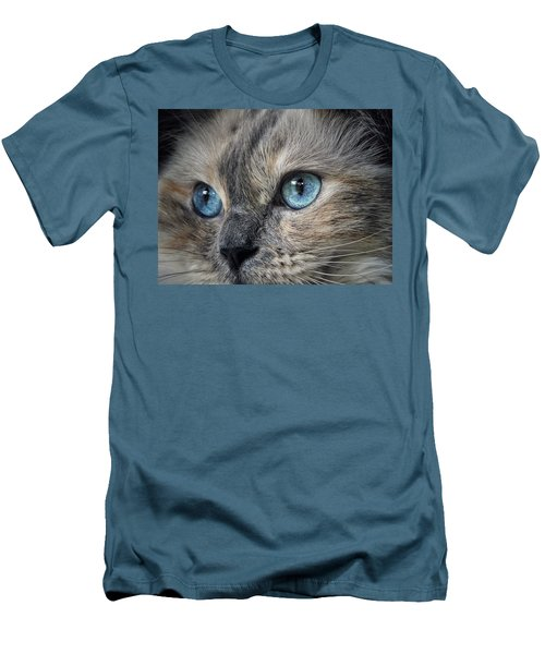 Men's T-Shirt (Slim Fit) featuring the photograph Blue Eyed Girl by Karen Stahlros