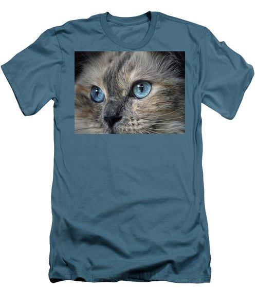 Blue Eyed Girl Men's T-Shirt (Slim Fit) by Karen Stahlros