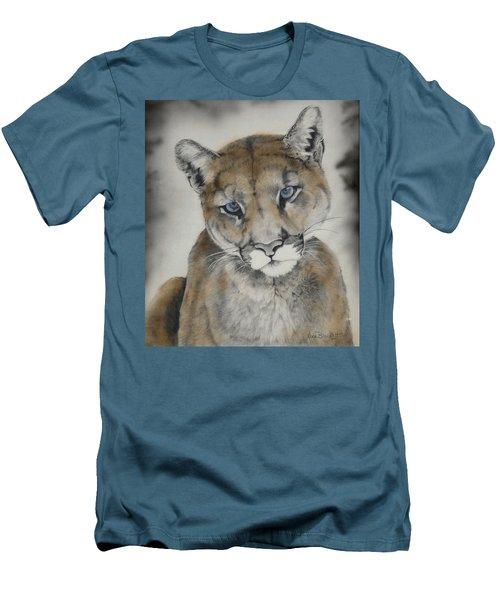 Blue Eyes Men's T-Shirt (Slim Fit) by Lori Brackett