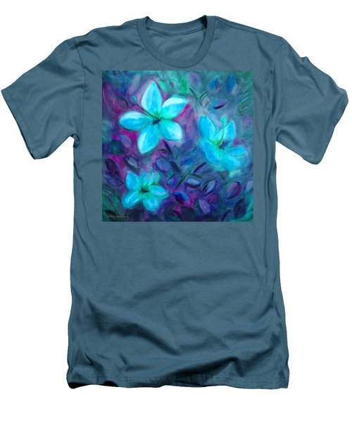 Blue Flowers Men's T-Shirt (Athletic Fit)