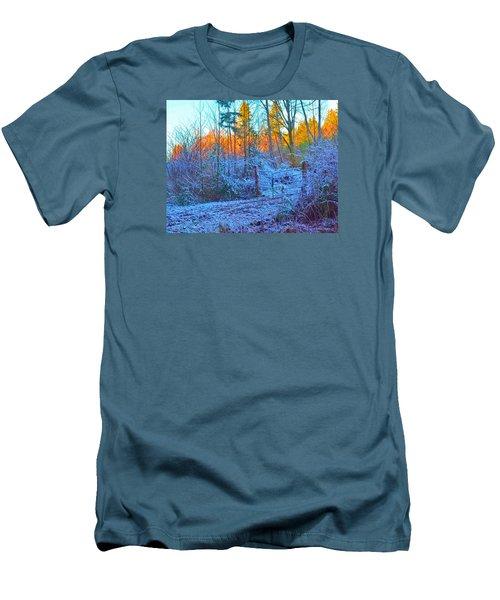 Blue Gate Men's T-Shirt (Slim Fit) by Tobeimean Peter