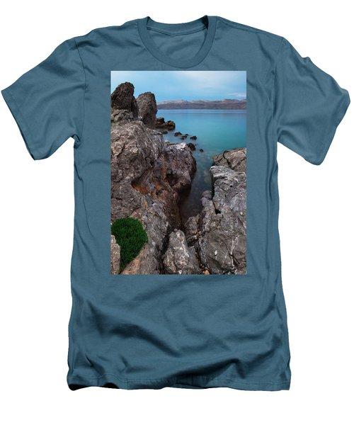 Blue, Green, Gray Men's T-Shirt (Athletic Fit)