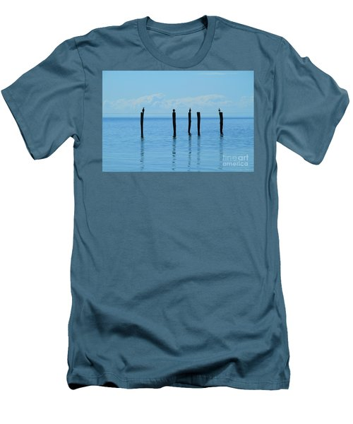 Men's T-Shirt (Athletic Fit) featuring the photograph Blue Horizon by Stephen Mitchell