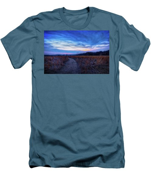 Men's T-Shirt (Slim Fit) featuring the photograph Blue Hour After Sunset At Retzer Nature Center by Jennifer Rondinelli Reilly - Fine Art Photography