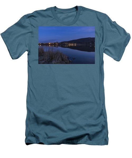 Blue Hour Retreat Meadows Men's T-Shirt (Slim Fit) by Tom Singleton