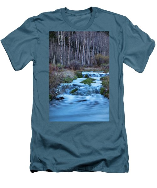 Blue Hour Streaming Men's T-Shirt (Slim Fit) by James BO Insogna