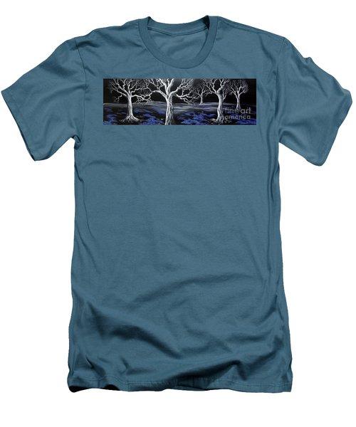 Blue Medadow Men's T-Shirt (Slim Fit) by Kenneth Clarke