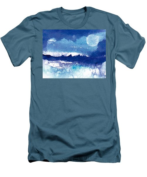 Blue Mohave Moon Men's T-Shirt (Athletic Fit)