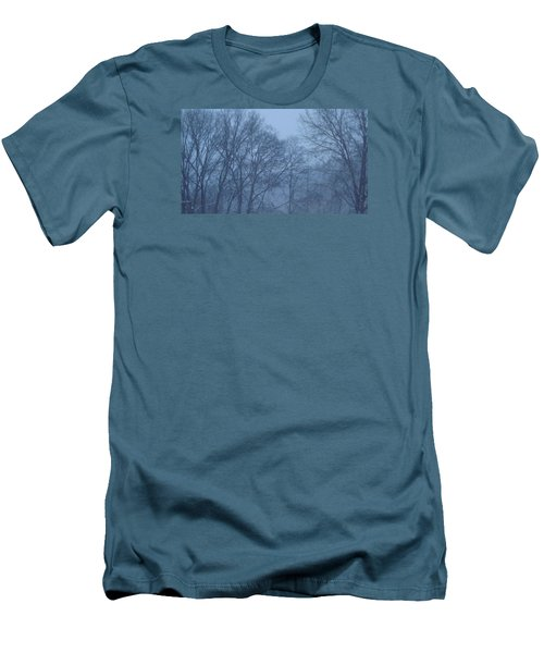 Men's T-Shirt (Slim Fit) featuring the photograph Blue Morning Mist by Don Koester