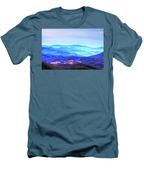 Blue Mountain Mist Men's T-Shirt (Slim Fit) by Dale R Carlson