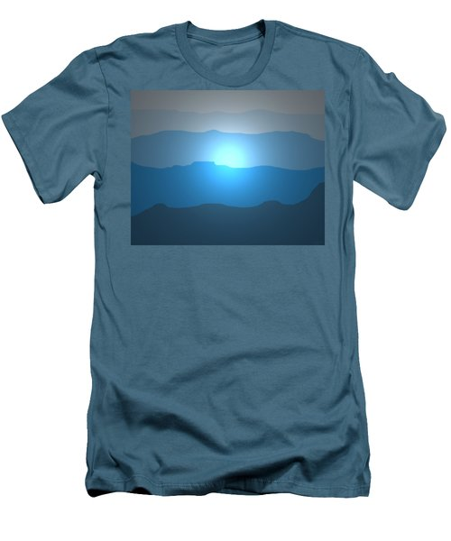 Blue Mountain Sun Men's T-Shirt (Athletic Fit)