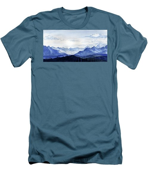 Blue Mountains Men's T-Shirt (Athletic Fit)