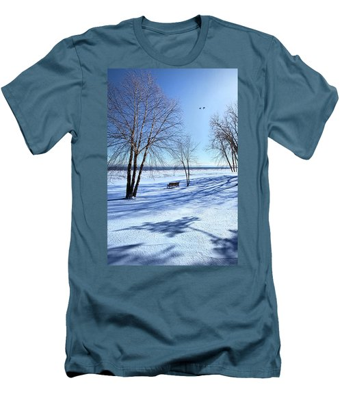 Men's T-Shirt (Slim Fit) featuring the photograph Blue On Blue by Phil Koch