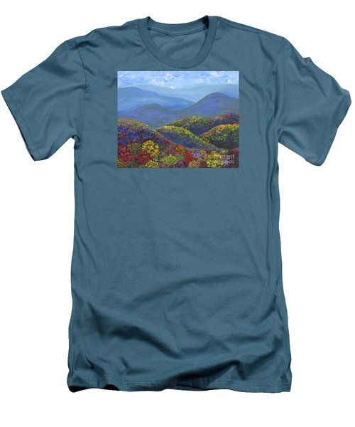 Blue Ridge Colors				 Men's T-Shirt (Slim Fit) by Anne Marie Brown