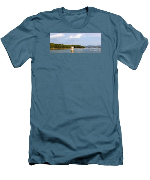 Blue Ridge Dam Men's T-Shirt (Slim Fit) by Michael Waters