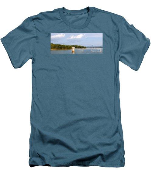 Blue Ridge Dam Men's T-Shirt (Athletic Fit)