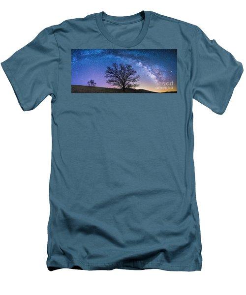 Blue Ridge Milkyway Men's T-Shirt (Slim Fit) by Robert Loe
