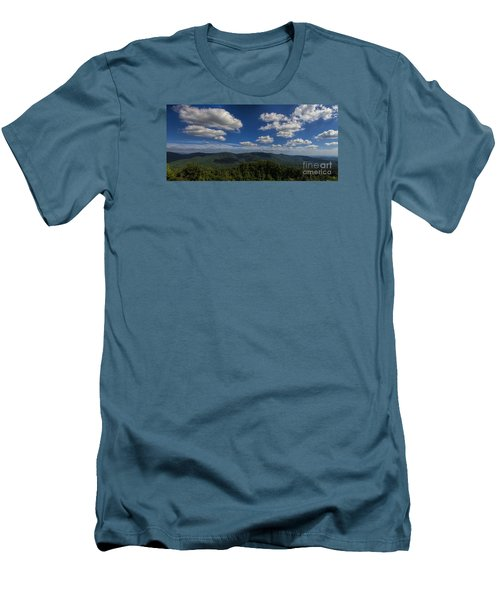 Blue Ridge Mountains Men's T-Shirt (Slim Fit) by Barbara Bowen