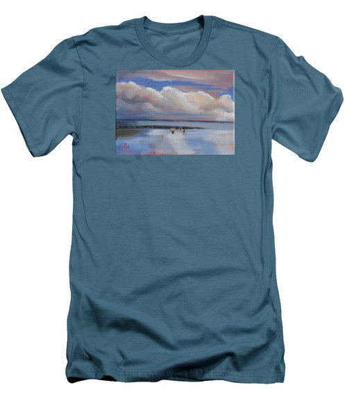 Blue Sky And Clouds I Men's T-Shirt (Slim Fit) by Trina Teele
