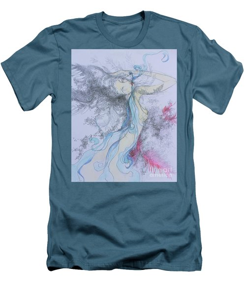 Blue Smoke And Mirrors Men's T-Shirt (Slim Fit) by Marat Essex