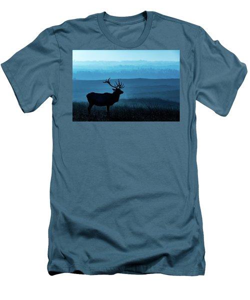 Blue Sunrise Men's T-Shirt (Athletic Fit)