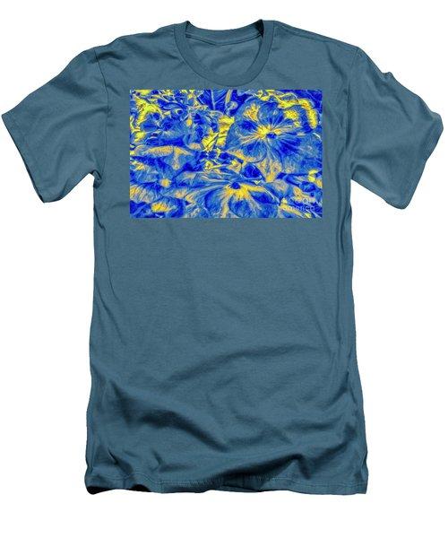 Blue Tango Floral Men's T-Shirt (Athletic Fit)
