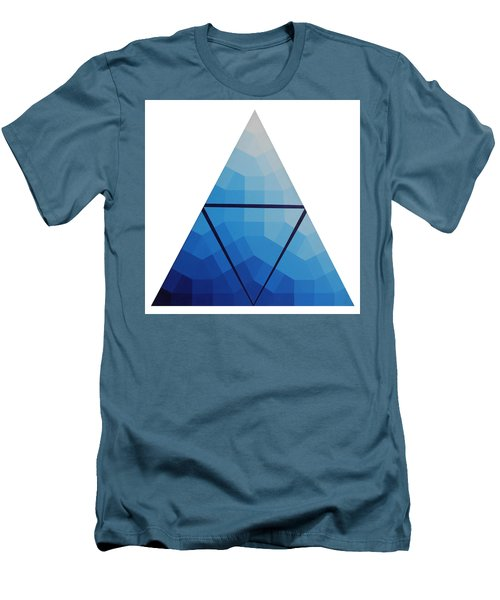 Blue Triangle - Wave Of Blue - Image #10 Men's T-Shirt (Slim Fit) by Peter Mooyman