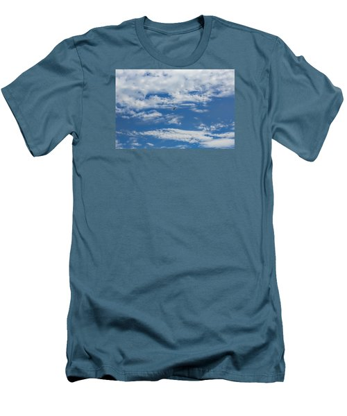 Men's T-Shirt (Slim Fit) featuring the photograph Blue White by Leif Sohlman