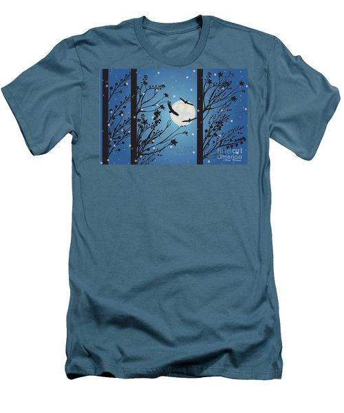Blue Winter Moon Men's T-Shirt (Slim Fit) by Kim Prowse