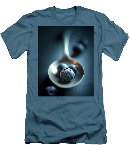 Blueberries Macro Still Life Men's T-Shirt (Athletic Fit)