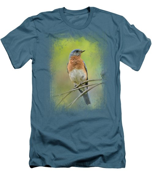 Bluebird On A Spring Day Men's T-Shirt (Slim Fit) by Jai Johnson