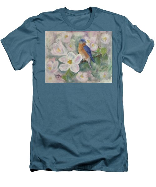 Bluebird Vignette Men's T-Shirt (Athletic Fit)