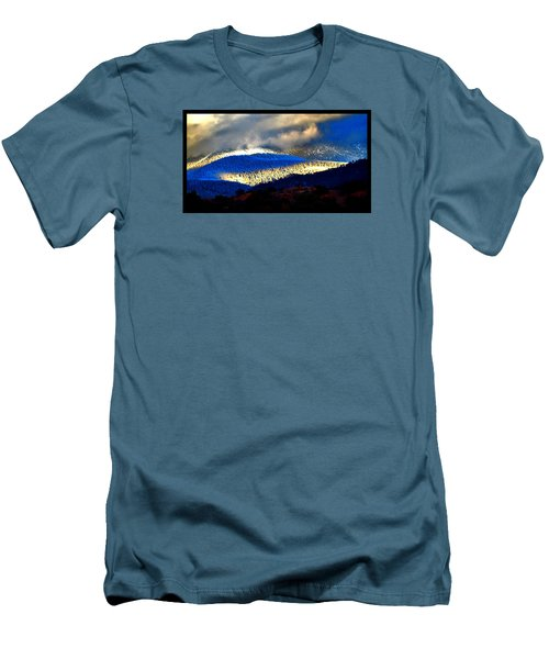 Blueray Winter New Mexico Men's T-Shirt (Slim Fit) by Susanne Still