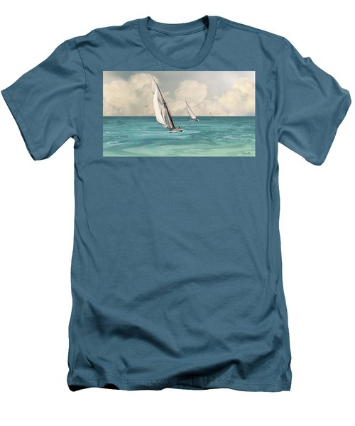 Bluewater Cruising Sailboats Men's T-Shirt (Athletic Fit)