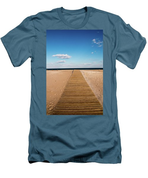Boardwalk To The Ocean Men's T-Shirt (Athletic Fit)