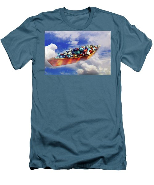 Boat In The Clouds Men's T-Shirt (Athletic Fit)