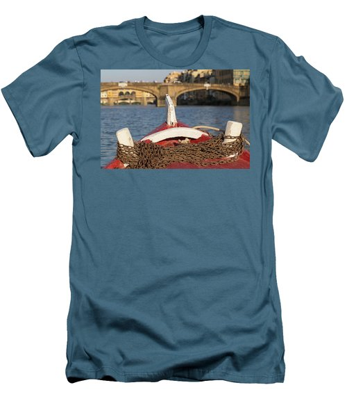 Boat On The Arno River,  Men's T-Shirt (Athletic Fit)