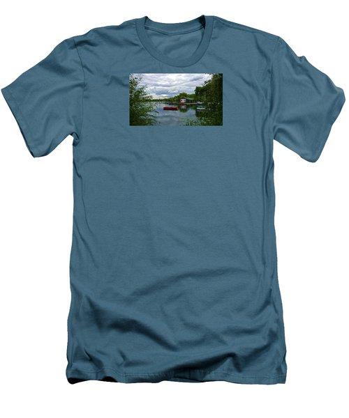 Boathouse Men's T-Shirt (Slim Fit) by Anne Kotan