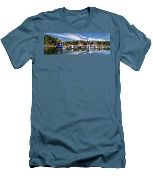 Men's T-Shirt (Athletic Fit) featuring the photograph Boats In Winchester Bay by James Eddy
