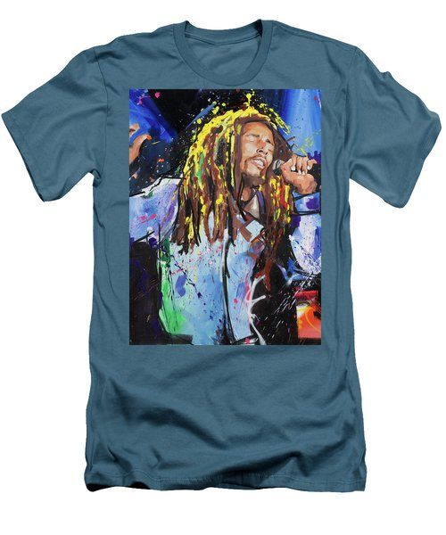 Bob Marley Men's T-Shirt (Slim Fit) by Richard Day