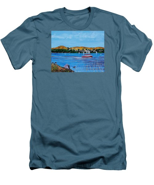 Bodega Bay From Campbell Cove Men's T-Shirt (Slim Fit) by Mike Caitham