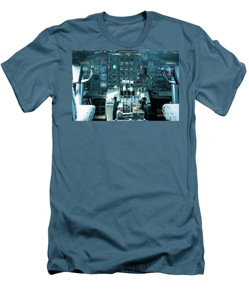 Boeing 747 Cockpit 23 Men's T-Shirt (Slim Fit) by Micah May