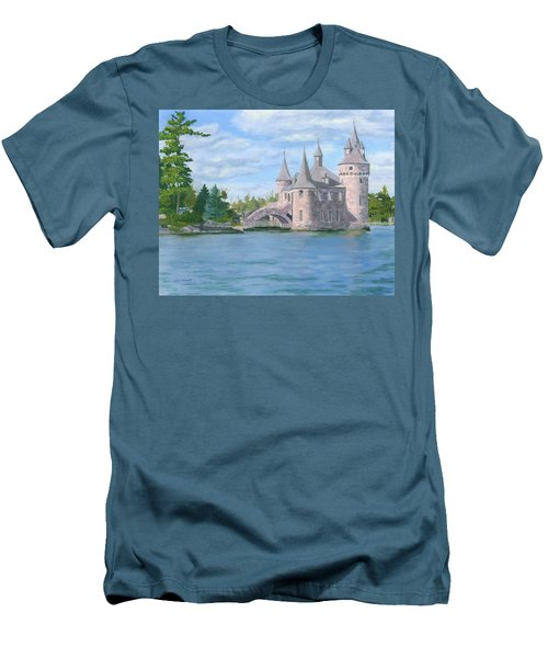 Men's T-Shirt (Athletic Fit) featuring the painting Boldt's Power House by Lynne Reichhart