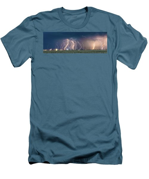 Bolts Over Bushland Men's T-Shirt (Athletic Fit)