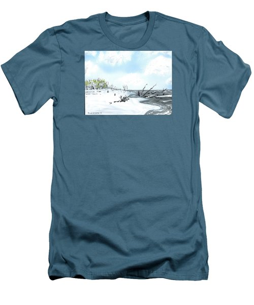 Bone Yard At Capers Island Men's T-Shirt (Athletic Fit)