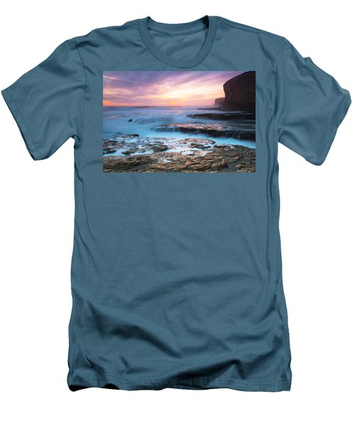 Men's T-Shirt (Slim Fit) featuring the photograph Bonny Doon Beach by Catherine Lau